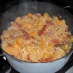Butternut Squash and Salami Risotto