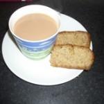 Banana Cake and tea!