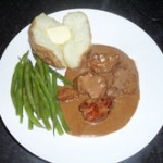 Steak in a Peppercorn Sauce